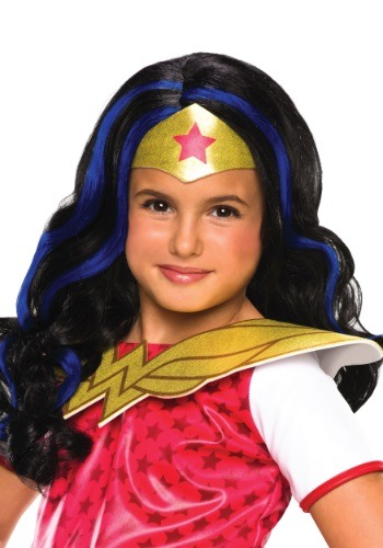 Girls DC Superhero Wonder Woman Wig