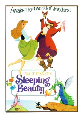 "Sleeping Beauty 13"" x 19"" Wood Wall Décor"