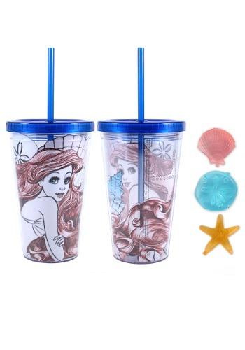 Little Mermaid Ariel 16 oz Plastic Cold Cup w Ice Cubes