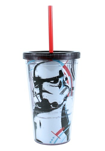 Storm Trooper 16 oz Plastic Cold Cup w Ice Cubes