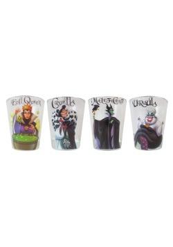 Disney Villains 4pc 1.5oz Clear Shot Glass Set