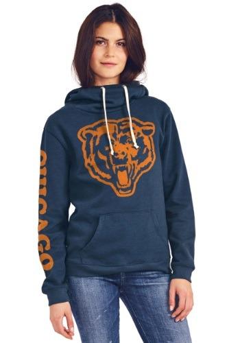 Ladies Chicago Bears Cowl Neck Hoodie
