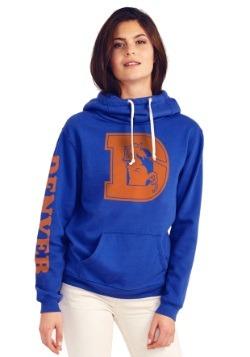 Denver Broncos Cowl Neck Womens Hoodie