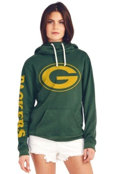 Green Bay Packers Cowl Neck Womens Hoodie