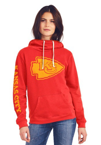 Kansas City Chiefs Cowl Neck Womens Hoodie