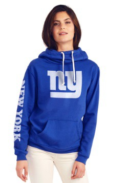 New York Giants Womens Cowl Neck Hoodie
