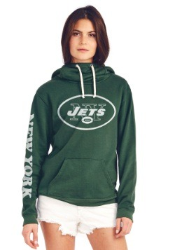 New York Jets Cowl Neck Womens Hoodie