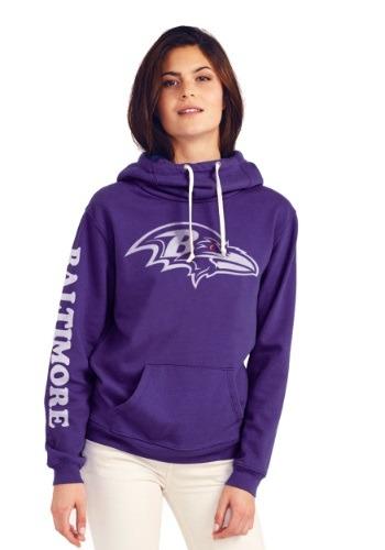 Baltimore Ravens Cowl Neck Womens Hoodie