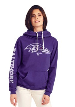 Baltimore Ravens Cowl Neck Womens Hoodie