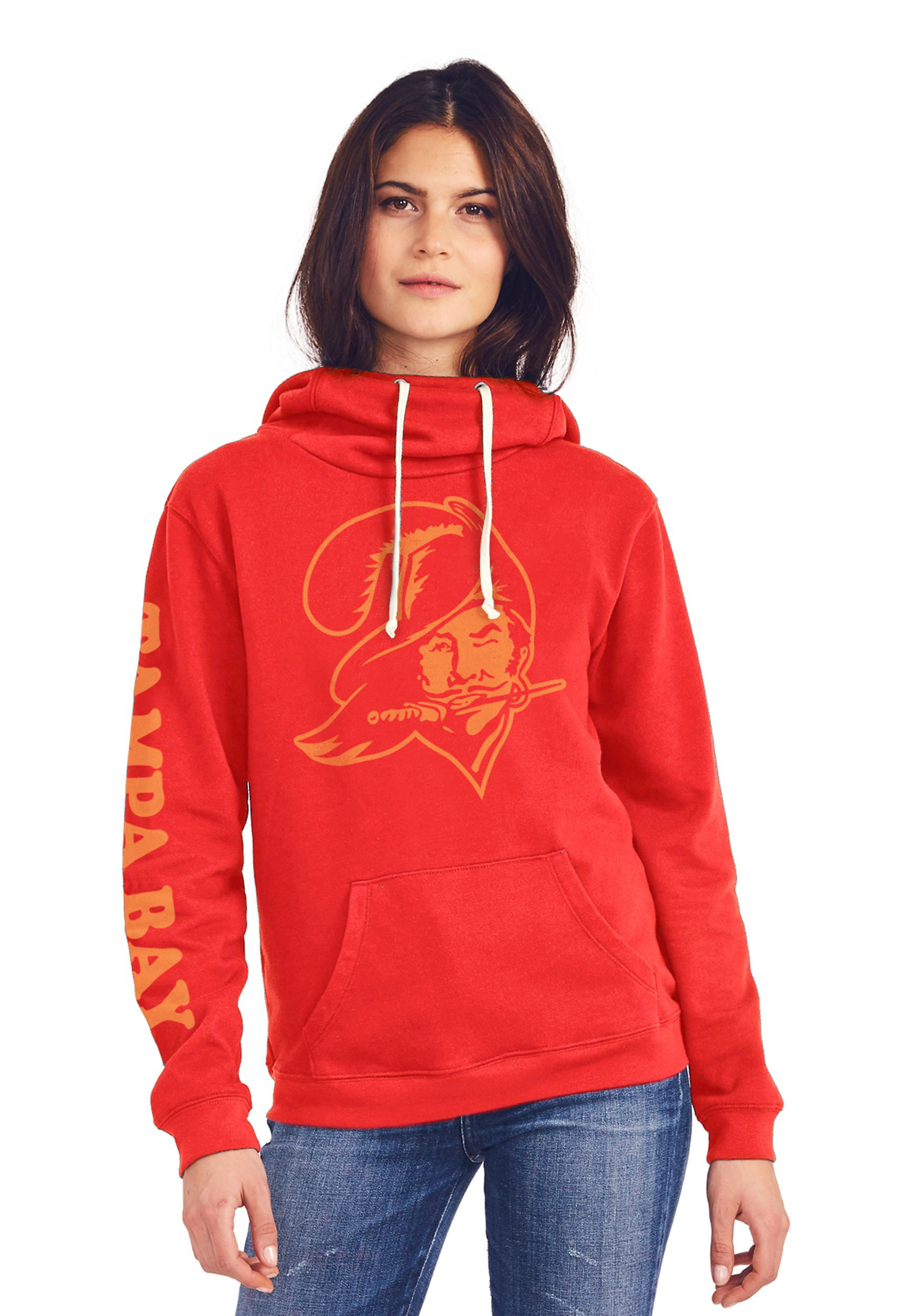Wholesale Tampa Bay Buccaneers Cowl Neck Hooded Sweatshirt for Women  for cheap