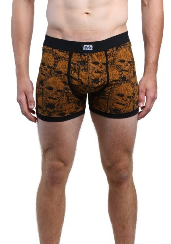 Star Wars Chewie All Over Face Mens Boxer Briefs