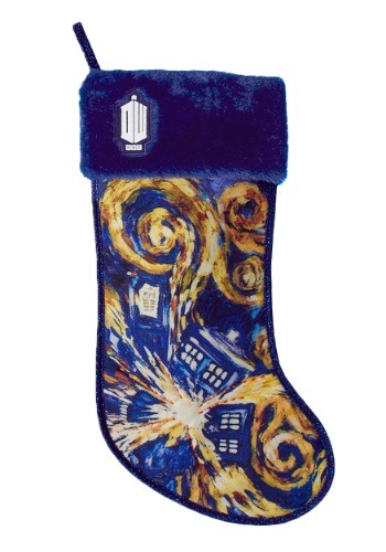 "19"" Doctor Who TARDIS Starry Night Stocking"