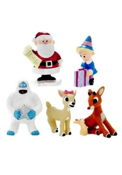 Rudolph 5 Piece Ornament Set