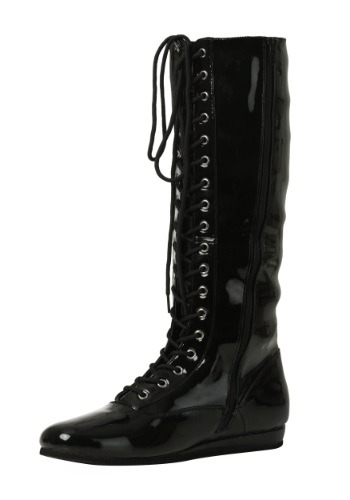 Adult's Black Wrestling Boots