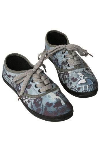 Alice In Wonderland Womens Lace Up Sneaker