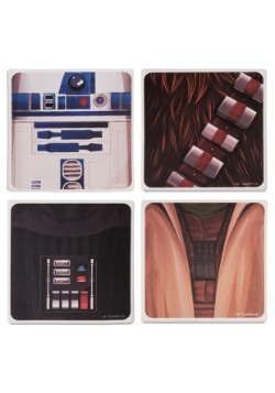 Star Wars 4 pc Ceramic Coaster Set
