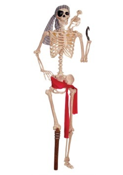 Lifesize Skeleton Pirate