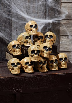 Twelve Piece Bag of Skulls Halloween Decor