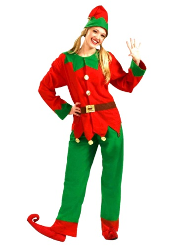 Vibrant Christmas Elf Costume