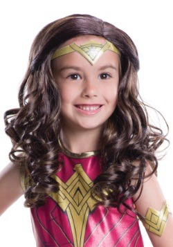 Child DC Dawn of Justice Wonder Woman Wig