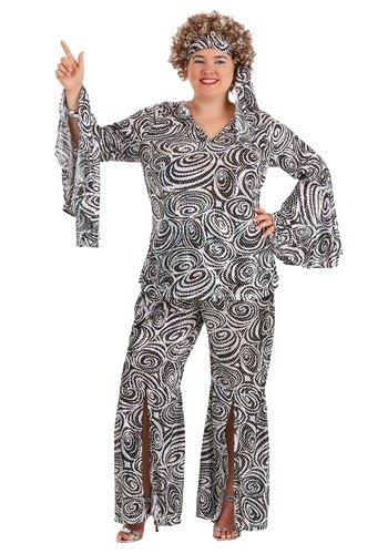 Women's Foxy Disco Lady Plus Size Costume