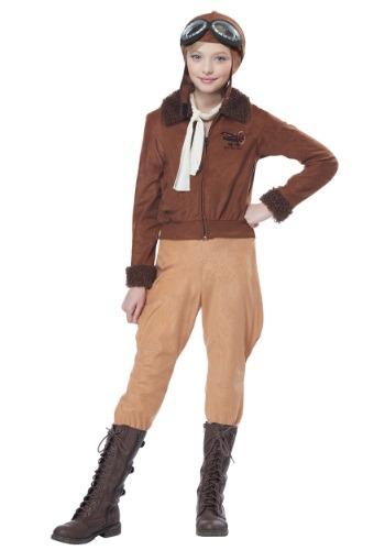 Girls Amelia Earhart/Aviator Costume