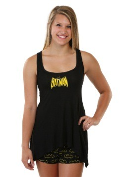 Batman Handkerchief Rayon Womens Tank And Shorts Set