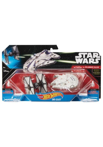 Hot Wheels Star Wars TIE Fighter vs. Millennium Falcon 2 Pac