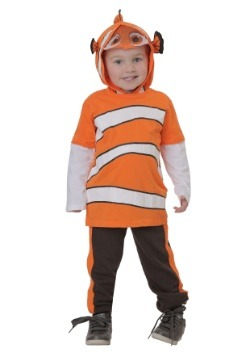 Toddler Finding Dory Nemo Jersey Hooded Top & Fleece Pants1