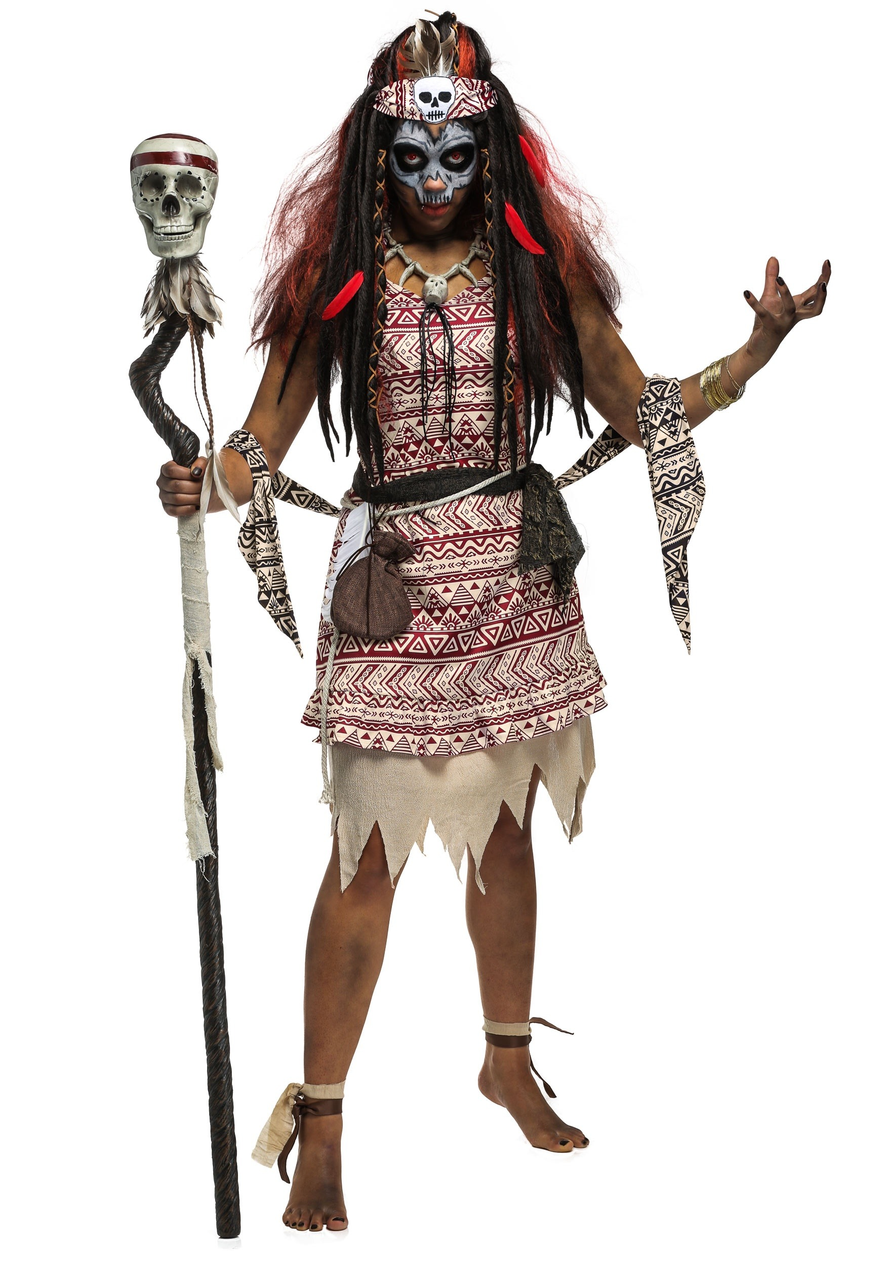 5bf43bfc5 Womens Voodoo Witch Costume