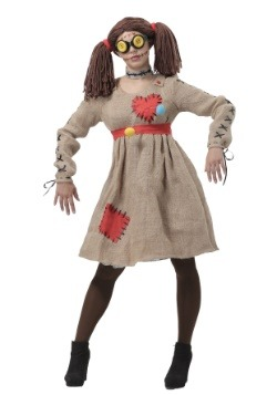Womens Burlap Voodoo Doll Costume