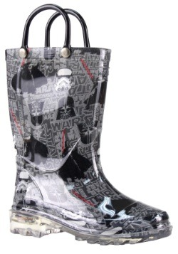 Star Wars Dark Side Kids Lighted Rain Boots