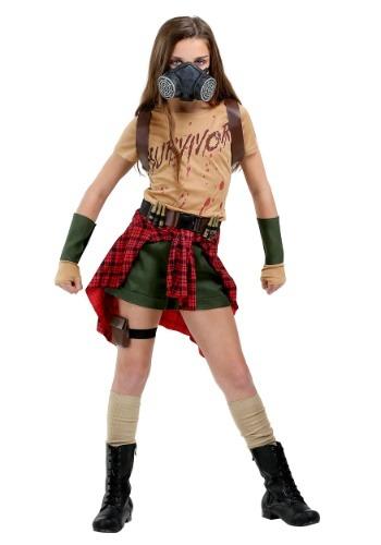 Girl's Zombie Survivor Costume