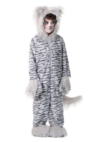 Deluxe Gray Cat  Costume For Kids