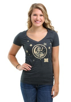 Miller High Life Women's Moon Girl V-Neck T-Shirt