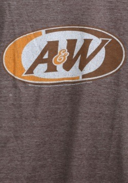 A&W Logo Juniors Heathered Brown Tee1