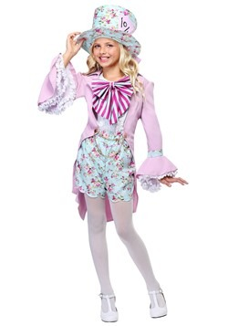 Girls Pretty Mad Hatter Costume