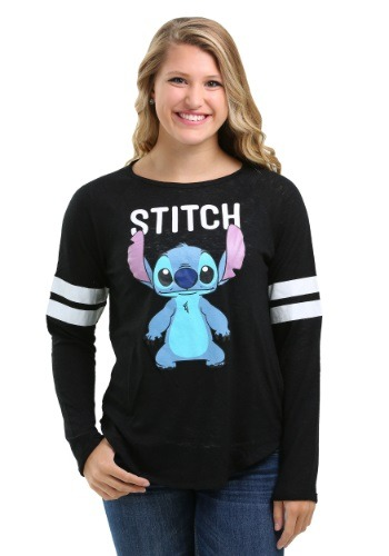 Stitch Hacci Football Crew Juniors Long-Sleeved Tee