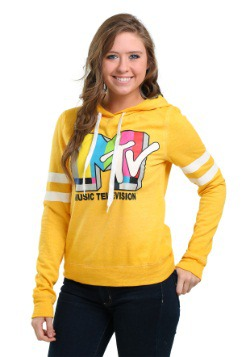 MTV Logo Burn Out Juniors Hoodie
