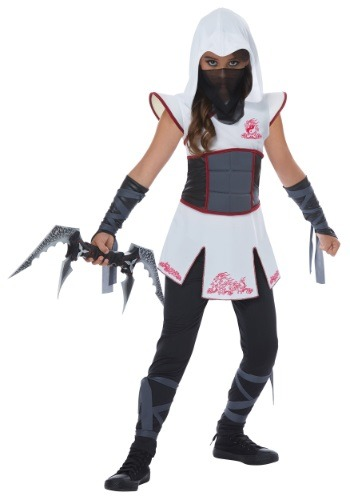 Girls White Ninja Costume