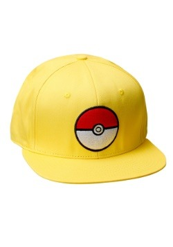 Pokemon Pokeball Trainer Yellow Snapback Hat 9f6acc61c10f