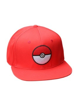 Pokemon Pokeball Trainer Red Snapback Hat 86ff8f7d89cc