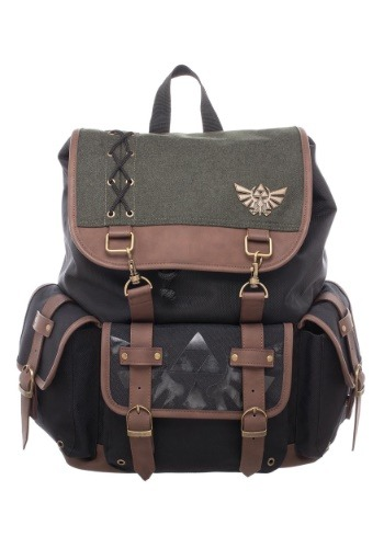 Legend of Zelda Ruck Sack with Metal Badge