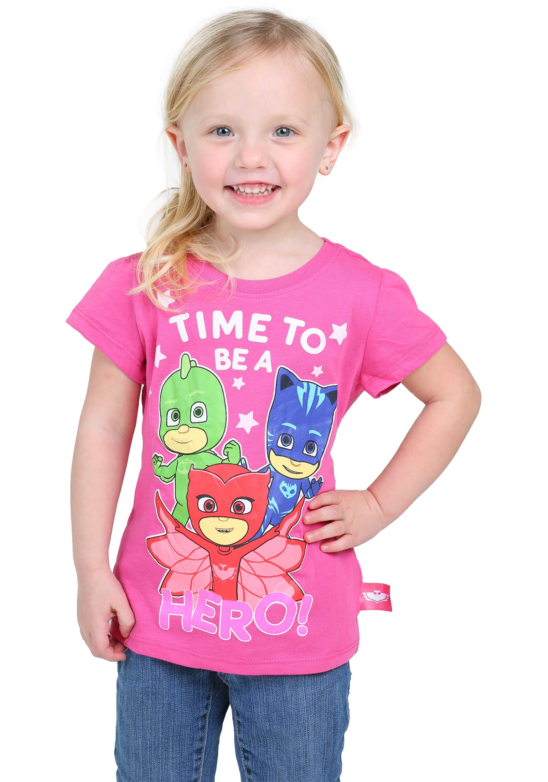f67e1d9c PJ Masks Time To Be A Hero Toddler Girls T-Shirt