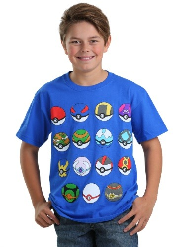 Pokemon Boys Pokeball Shirt