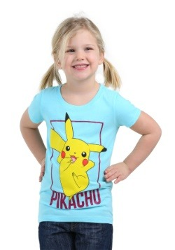 Pikachu Girls Blue Shirt