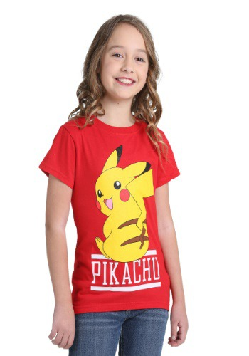 Pikachu Girls Red Shirt