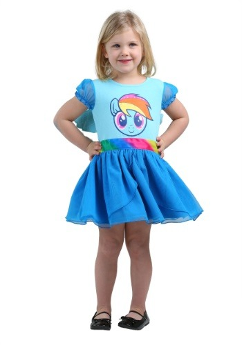 Girls MLP Rainbow Dash Tulle Costume Dress