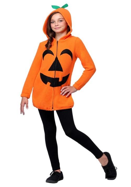 Girl's Playful Pumpkin Costume