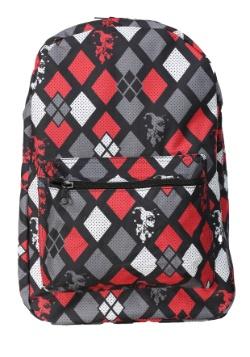 Harley Quinn Diamonds Print Backpack
